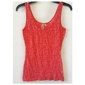 """BKE"" Lace Coral Color Tank Top 😍👌"
